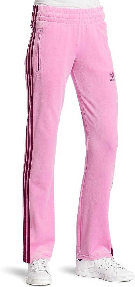 adidas Mujer de Velur pantalón de chándal, Mujer, Clear Pink/Solid ...