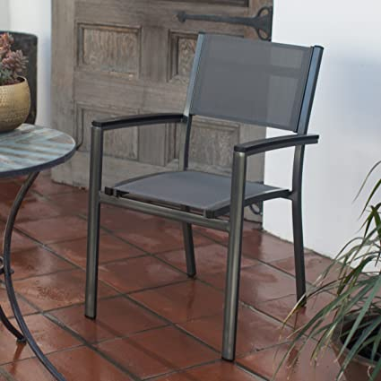 Fantastic Amazon Com Modern Sling Stacking Outdoor Patio Dining Home Interior And Landscaping Eliaenasavecom