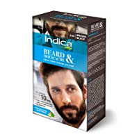 Indica Beard and Moustache, Brown Black, 32g