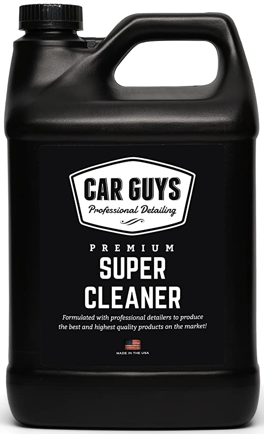 Car Guys Super Cleaner   The Most Effective All Purpose Cleaner Available On The Market!   Best For Leather Vinyl Carpet Upholstery Plastic Rubber And Much More!   1 Gallon Bulk Refill by Car Guys