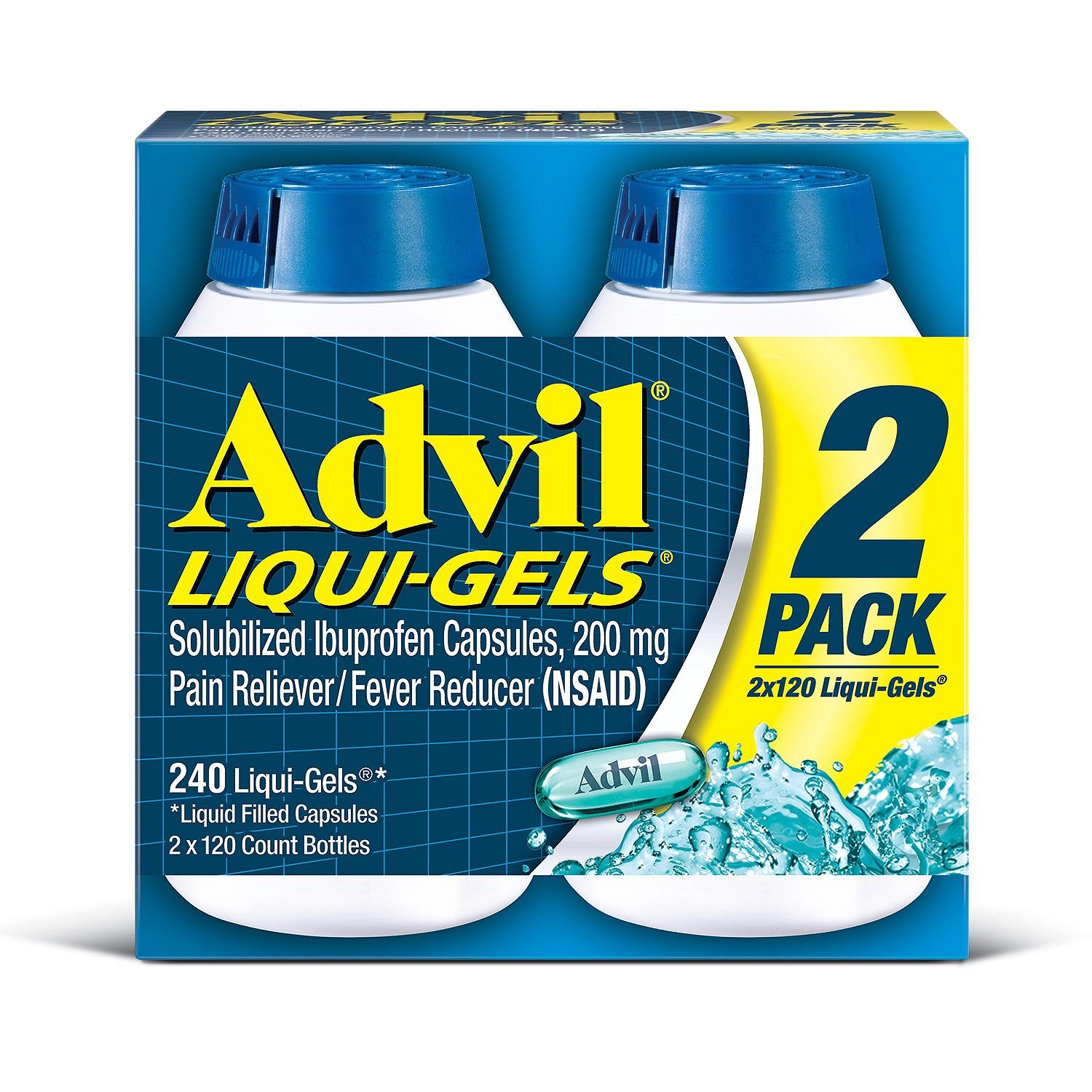Advil Liquid Gels - Mega Value Size 6 Pack (120 Count Each. ) by Advil