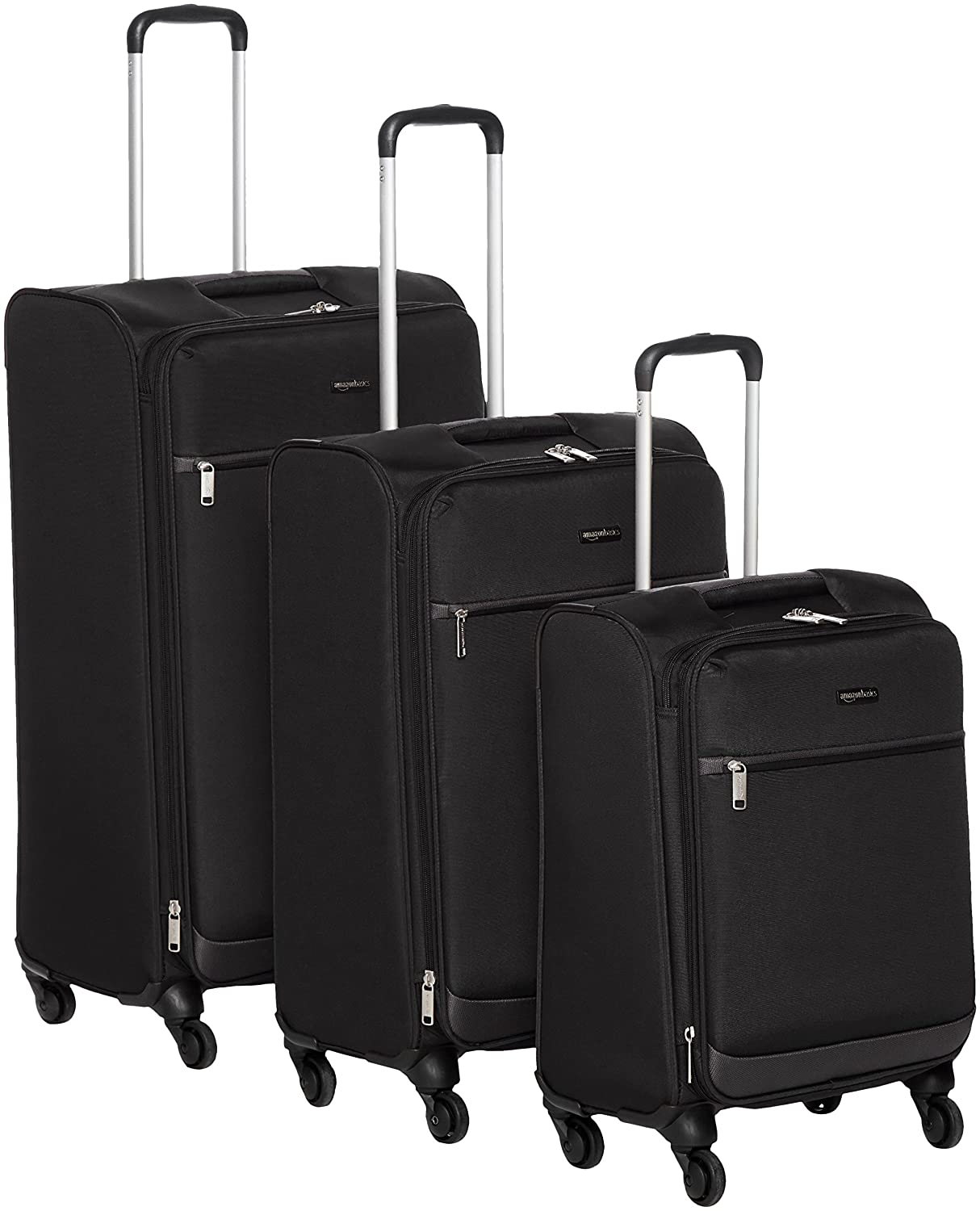 AmazonBasics Softside Suitcase Set with Wheels, 21
