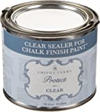 Amitha Verma Clear Wax and Sealer for Chalk Finish Paint | Durable, Fast Drying DIY Protection for Wood Furniture & Other Surfaces, 16 oz