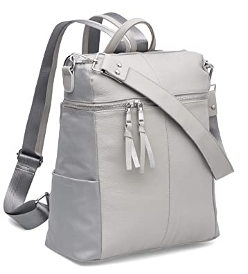 e3772b157797a Amazon.com: Miso Em Womens Real Genuine Leather Backpack Purse, convertible  and multi functional and fashionable: Shoes