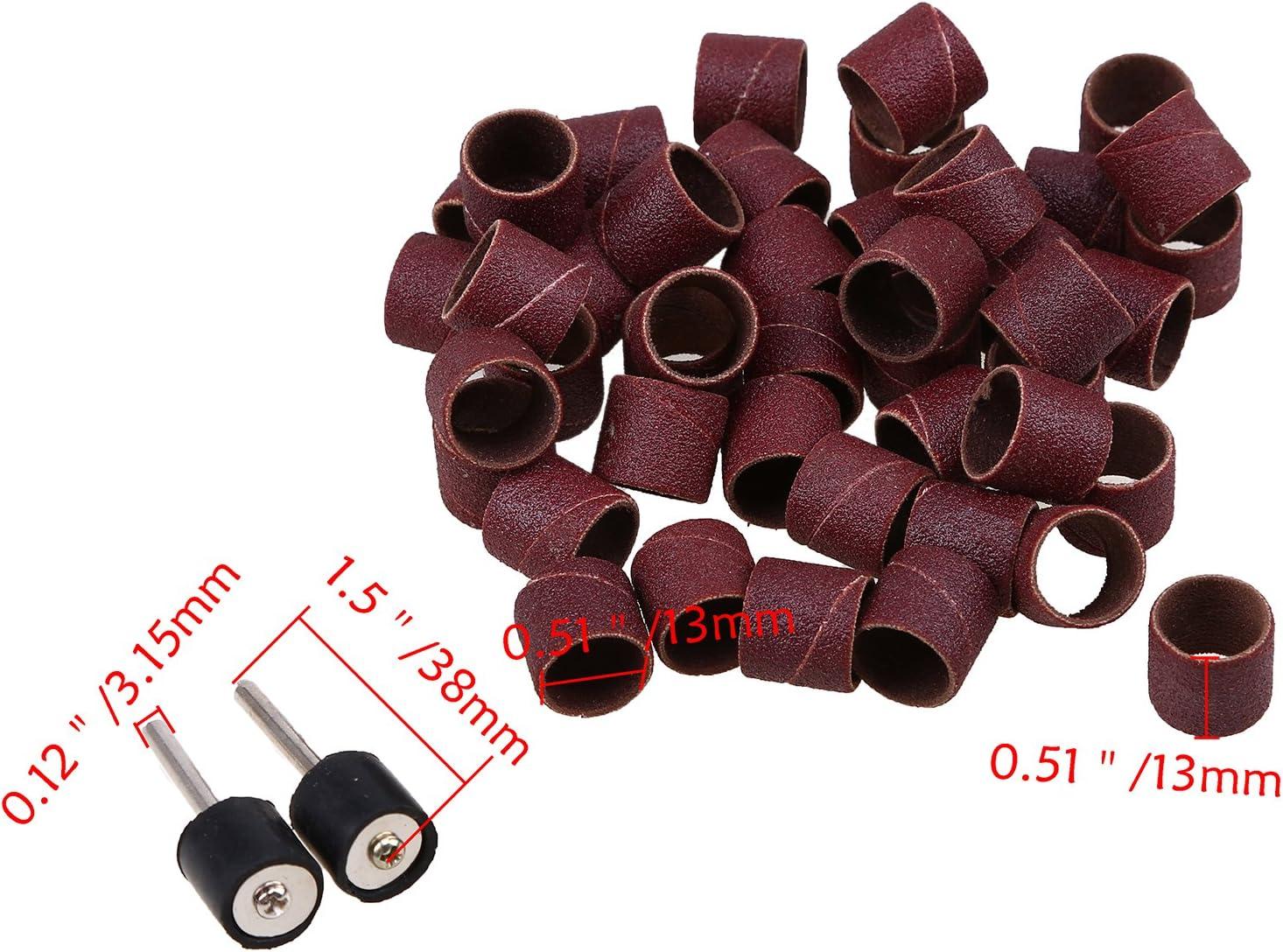 150 grit 240 grit Sanding Bands Sleeves Sanding Drum Kit 80 grit 2-240# 50 Pcs for Dremel Rotary Tool 120 grit 180 grit 320 grit