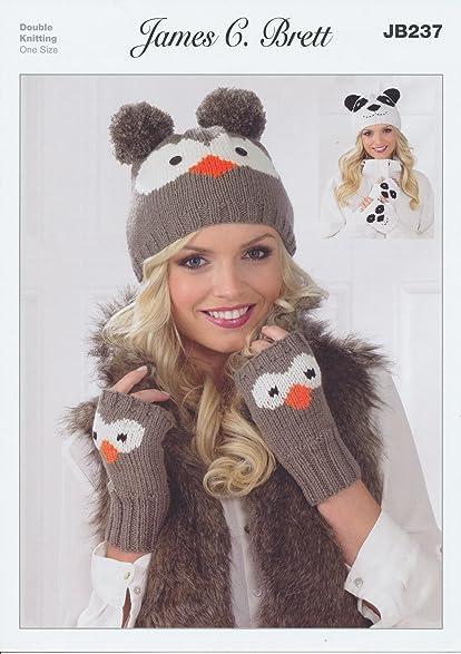 Amazon James Brett Double Knitting Dk Pattern Womens Owl Or