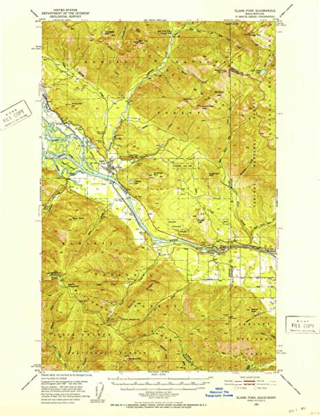 Amazon.com: YellowMaps Clark Fork ID topo map, 1:62500 Scale ...