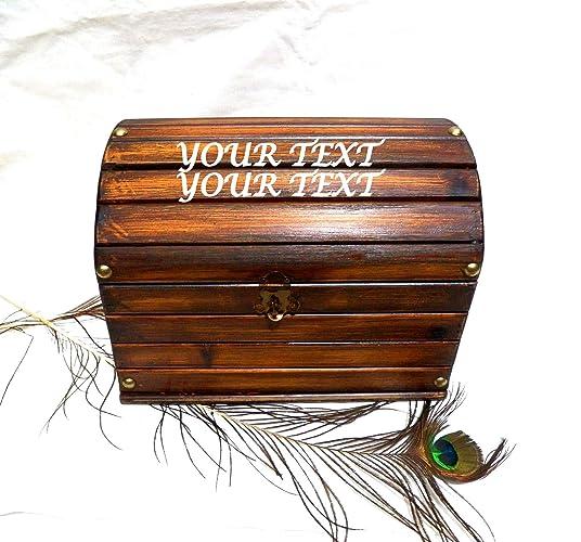 Cofre personalizado, Caja de madera, Caja de boda, Tronco personalizado, Caja grabada
