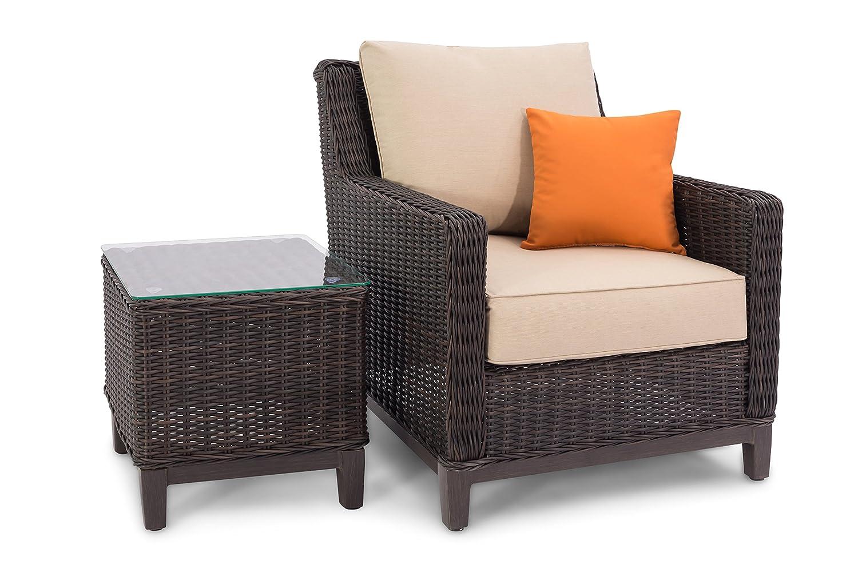 Remarkable Amazon Com Sierra Outdoor Patio Furniture Brown Lounge Download Free Architecture Designs Intelgarnamadebymaigaardcom