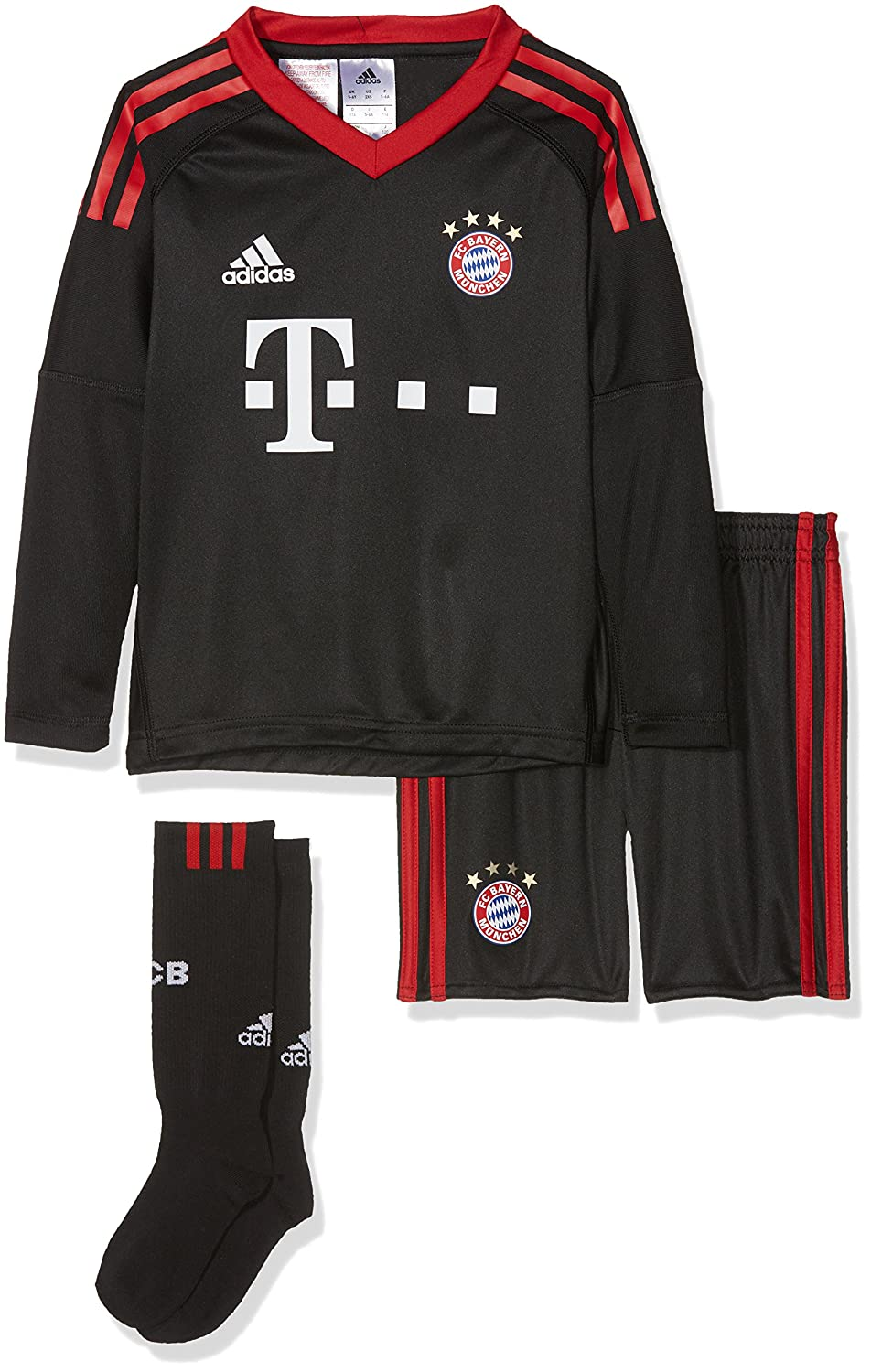 2017-2018 Bayern Munich Adidas Home Goalkeeper Mini Kit B06ZYS3M8RBlack 4-5 Years