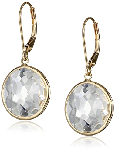 plated golden with dp gold sterling quartz silver amazon earrings rutilated yellow com