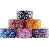 6 Roll Variety Pack of Decorative Duct Style Tape, Paisley Tape, Each Roll 1.88 Inch x 5 Yards, Ideal for Scrapbooking…