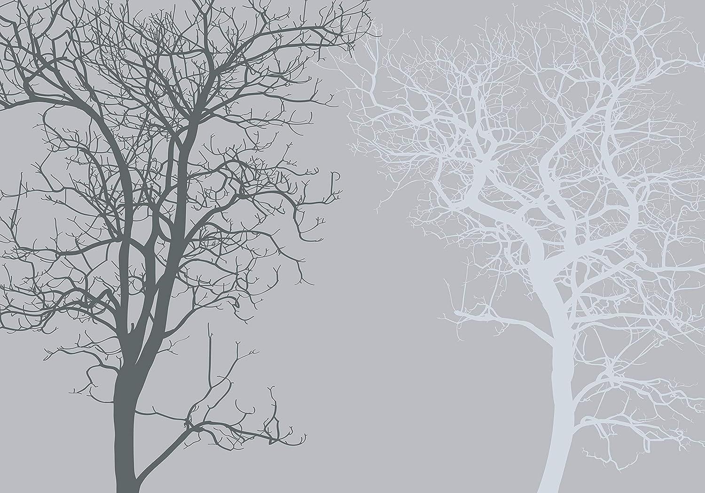 Wandmotiv24 Fototapete Baum Silhouetten Silhouetten Silhouetten grau abstrakt M3604 XXL 400 x 280 cm - 8 Teile Wandbild - Motivtapete B07NF23B9R Wandtattoos & Wandbilder 4bdfe4