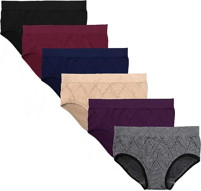 SHEKINI Braguitas Culotte sin Costuras Mujer Bragas Confortables Pack de 4/6: Amazon.es: Ropa y accesorios