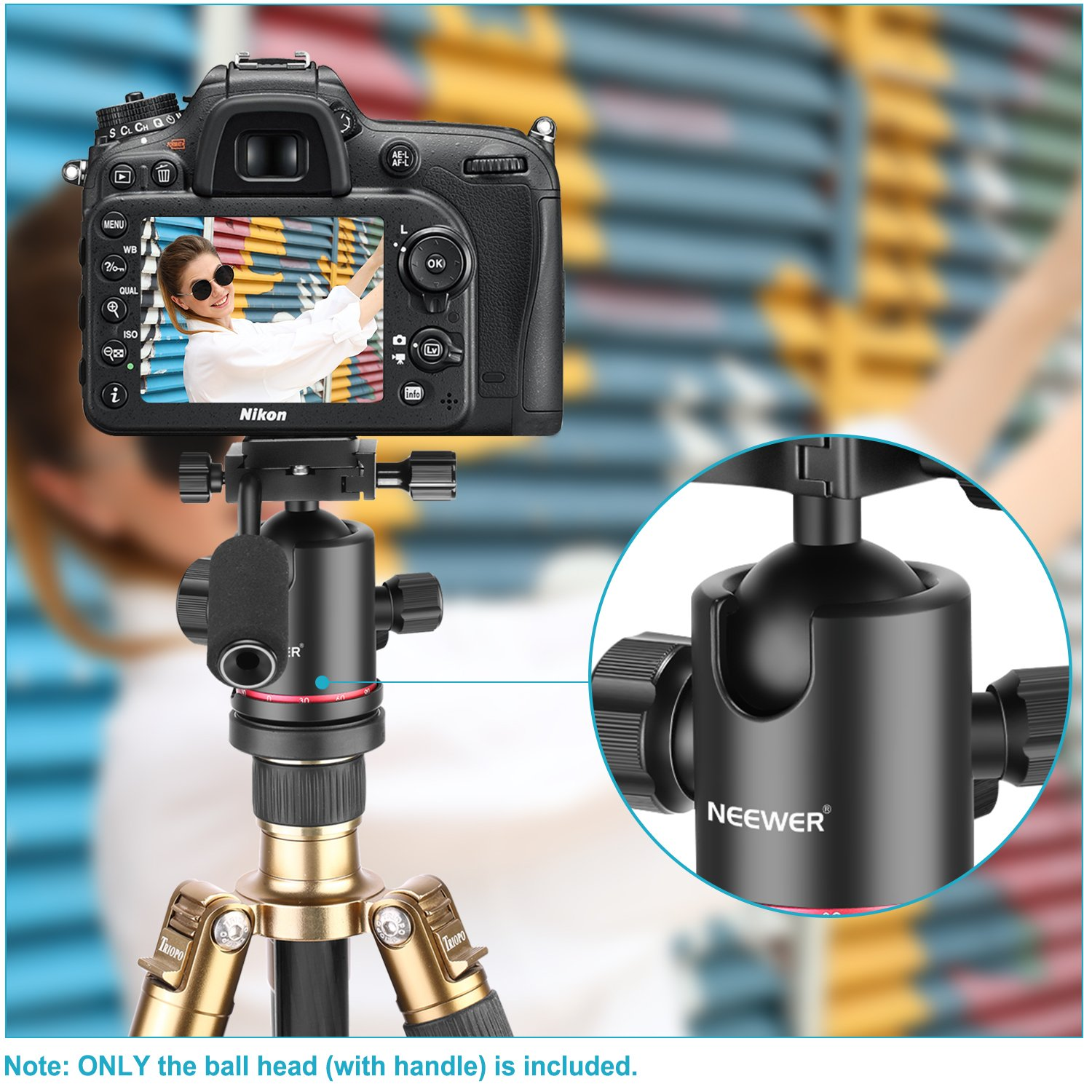 Telescope,Max Load 22lb//10kg DV D30 Panoramic Ball Head with Handle All Metal CNC Ballhead Camera Mount INNOREL Tripod Heads with Two Quick Release Plates and Phone Clip for Monopod Camcorder DSLR