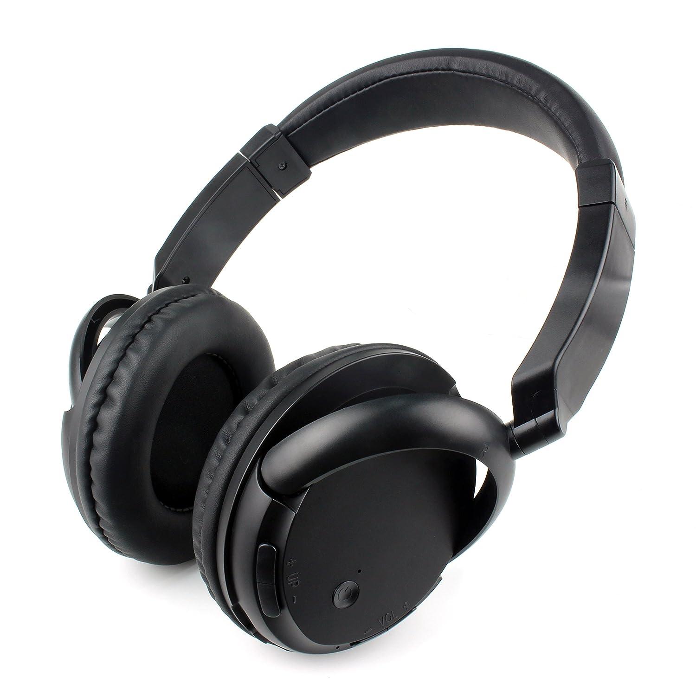 SmartEra® Black Bluetooth Headphones, Bluetooth 4.0 High Fidelity Wireless Over-Ear Headphones for Smart Phones and Tablets