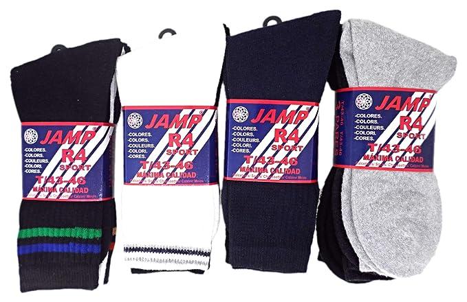 JAMP - Pack de 12 pares de Calcetines de Deporte Colores Surtidos- Modelo R4 (