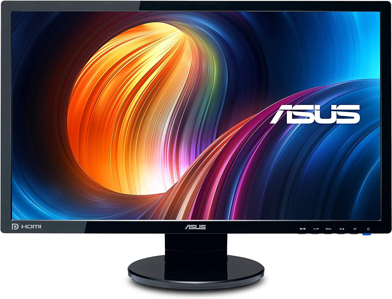 Amazon Com Asus Ve248h 24 Full Hd 1920x1080 2ms Hdmi Dvi Vga Back Lit Led Monitor Black Computers Accessories