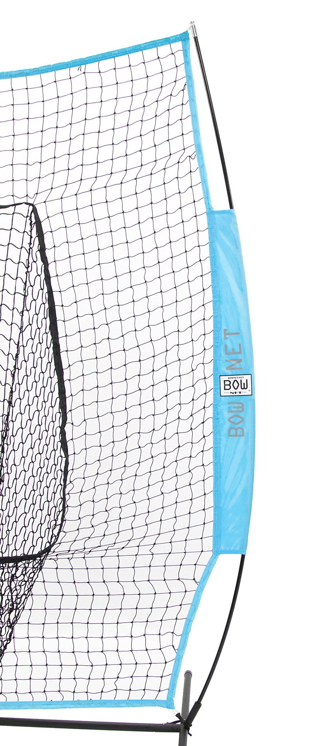 Bownet Big Mouth Portable Baseball/ Softball frame w/ Columbia Blue Net by USABatting (Image #2)