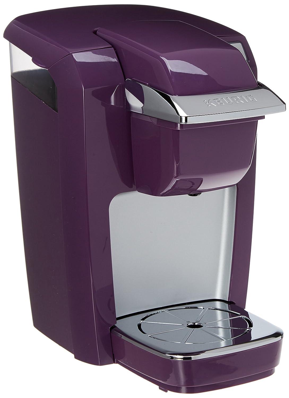 Keurig K15 Single-Serve Compact K-Cup Pod Coffee Maker, Black Plum