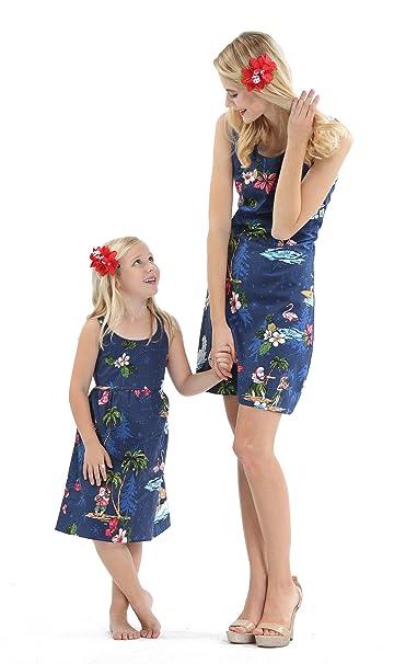 Hija Hawaiana de Luau de la Hija de la Madre Que Empareja el Vestido de la