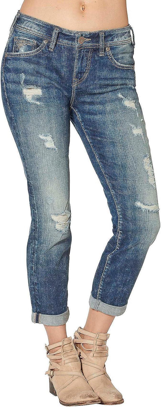 Silver Sam Boyfriend Slim Leg Mid Rise Jeans 35 X 29 Women's Jeans Brand New