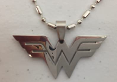 Amazon dc comics wonder woman logo stainless steel pendant w dc comics wonder woman logo stainless steel pendant w 26quot aloadofball Image collections