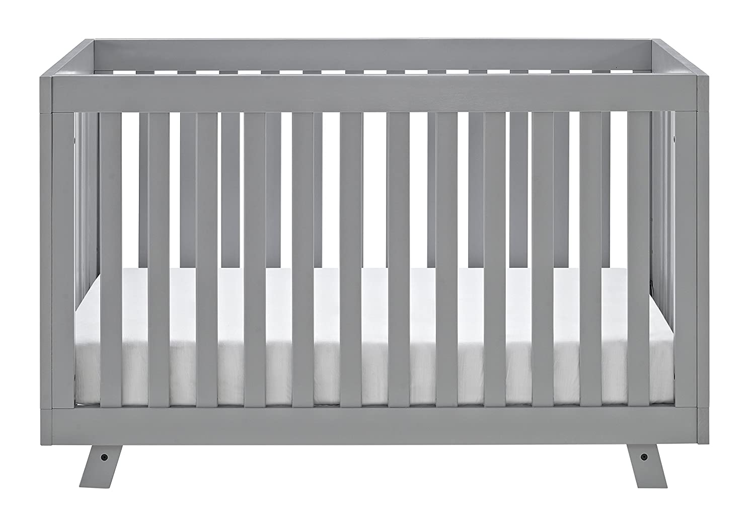Storkcraft Beckett 3-in-1 Convertible Crib Pebble Gray Fixed Side Crib, Sold Pine and Wood Product Construction, Converts to Toddler Bed Day Bed or Full Bed, Adjustable Height Mattress 04610-60F