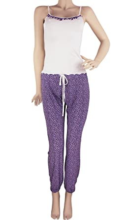 Hipnys Sleepwear Pijamas de Mujer PAT2 Pant & Cami PJ Set Pajama Nightwear Women at Amazon Womens Clothing store: