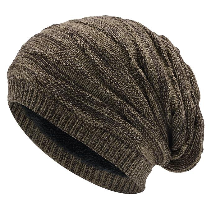 WinCret Cálido Gorro de Punto Sombrero de Invierno con Patrón de ...