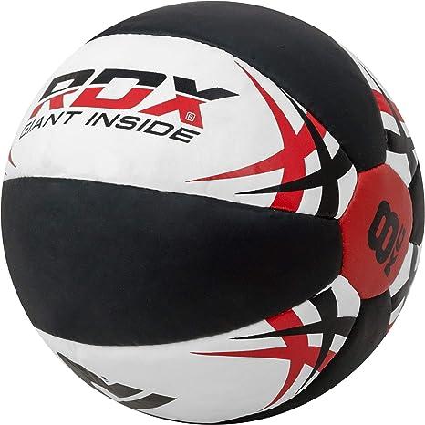 RDX Balones Medicinales Ejercicio Pelota Fitness Gymnasia Cuero Balón Medicinal Entrenamiento
