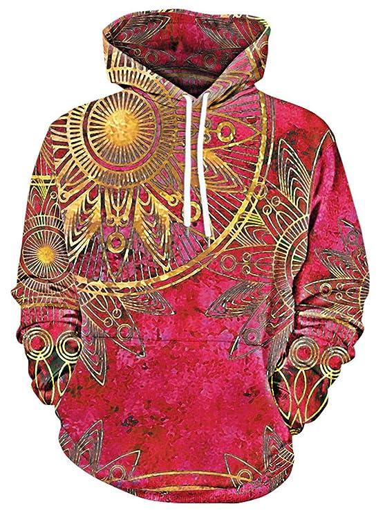 b6ce9cae6fa4 ... where to buy 55c02 6231f hope hoodies 3D Sweatshirts With Hat Kangaroo  Pocket Maya Totem Print ...