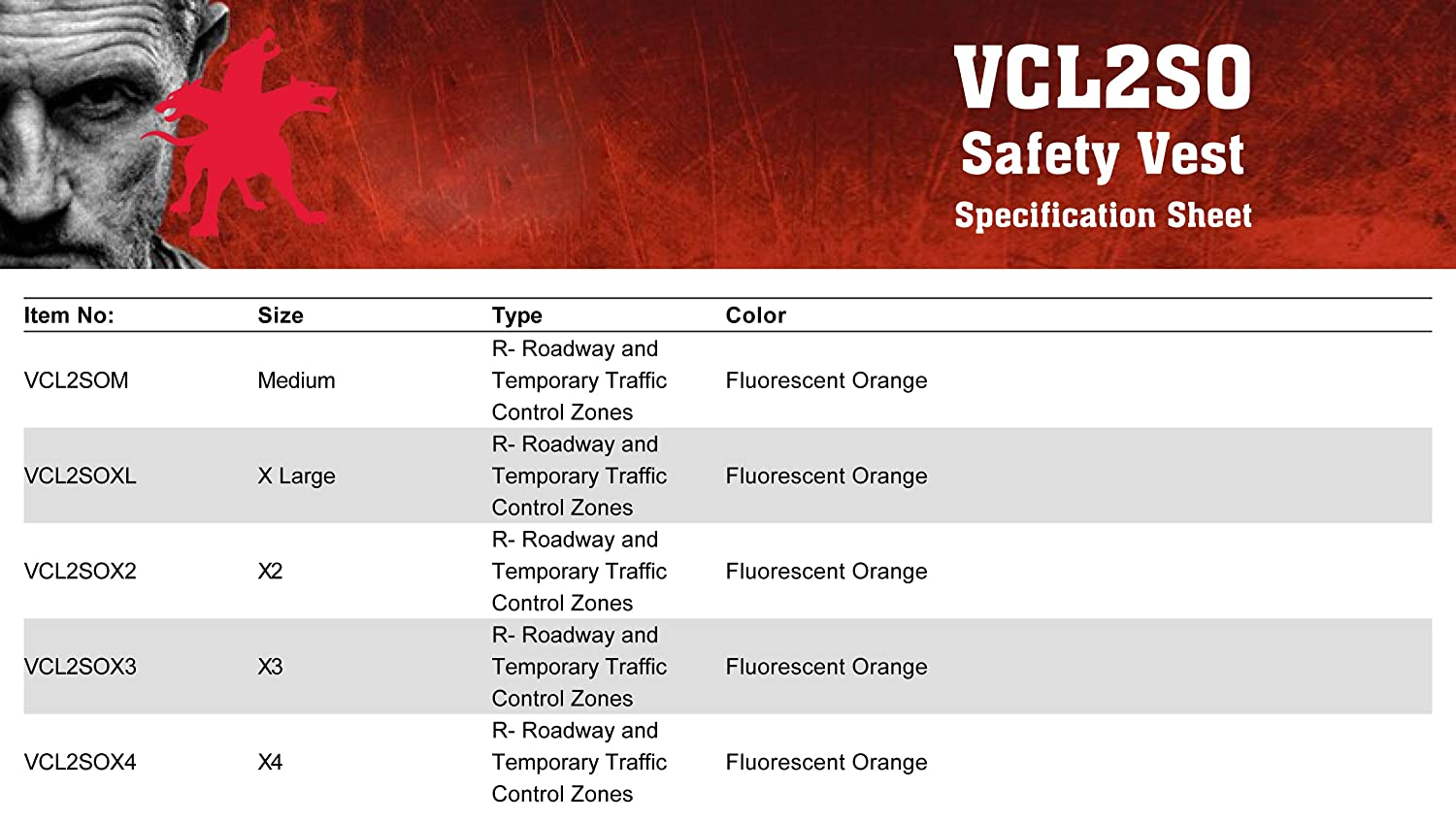 Large MCR Safety VCL2SOL Safety Vest Economy Class 2 2 Silver Reflective Stripe Orange 3-Pockets Hook and Loop Front