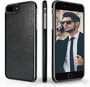LOHASIC iPhone 8 Plus Case, iPhone 7 Plus Case Premium Leather Luxury Slim Soft Flexible Bumper Non-Slip Grip Anti-Scratch Shockproof Protective Cover Cases for Apple iPhone8 Plus/ iPhone7 Plus -Black