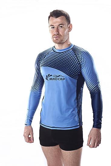 feee7e936f MADCAP Mens UV Sun Protection Long Sleeve Rash Guard Swimwear Surf Swim  Fishing Shirt Top
