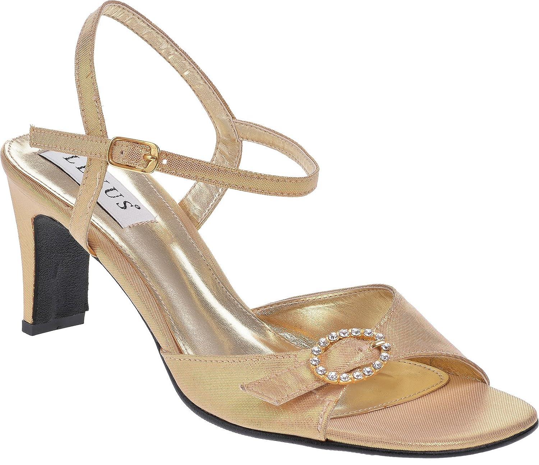Sandales pour coupe confortable 19993 confortable et réglable à boucle à diamanté. Doré e35b630 - shopssong.space