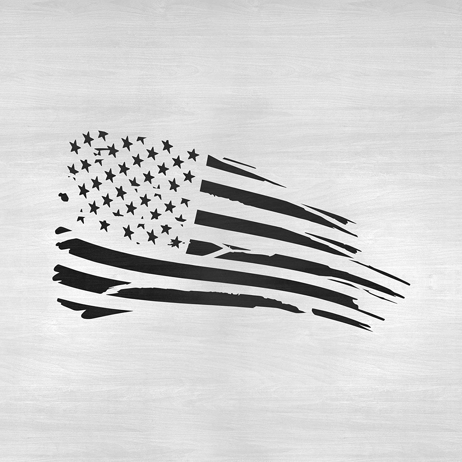 DISTRESSED AMERICAN FLAG Large Stencil Template Airbrush Paint