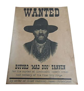 Amazon 3 Kitchen uk The Prop Future Dog' Wanted Home Buford Poster Part Back Replica 'mad To Outlaw co Tannen amp;