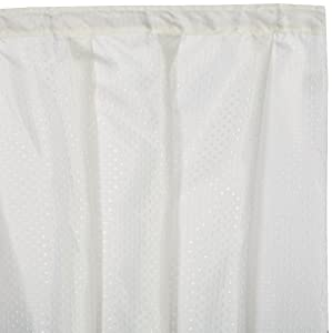 Carnation Home Fashions Lauren Dobby Fabric Sink Skirt, 56-Inch by 32-Inch, Ivory
