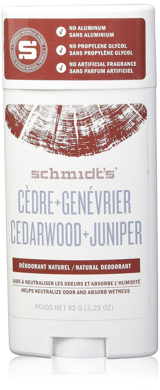 Schmidt's Deodorant Cedarwood + Juniper Stick, 3.25 Ounce Cathay Fenix (Beauty) 019962085314