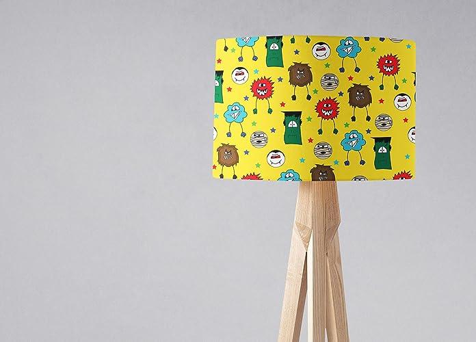 ee3b84a1799e Amazon.com: Yellow Monsters Lampshade Light Shade: Handmade