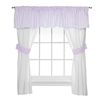Baby Doll Sweet Touch Baby 5 Piece Window Valance and Curtain Set Yellow