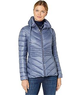 Bernardo Womens Velvet Puffer Jacket 7927G570