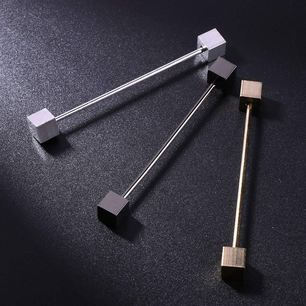 LANDUM 1 Piece Shirt Pins for Mens Tie Clip Collar Clasp Luxury Business Wedding Brooch Bar Ornament Gold
