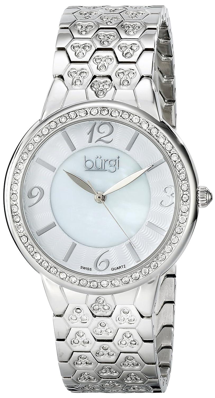 Burgi Damen-Armbanduhr Analog Quarz BUR115SS