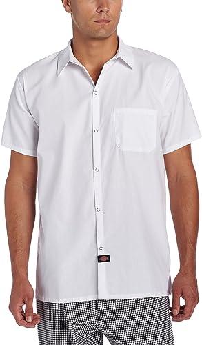 Dickies Camisa de cocina con botón a presión para hombre