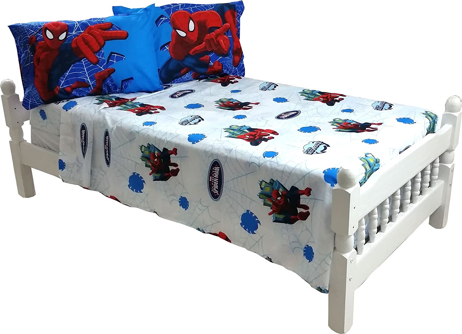 Amazon.com: 4pc Marvel Spiderman Full Bed Sheet Set Superhero Astonish  Bedding Accessories: Home U0026 Kitchen