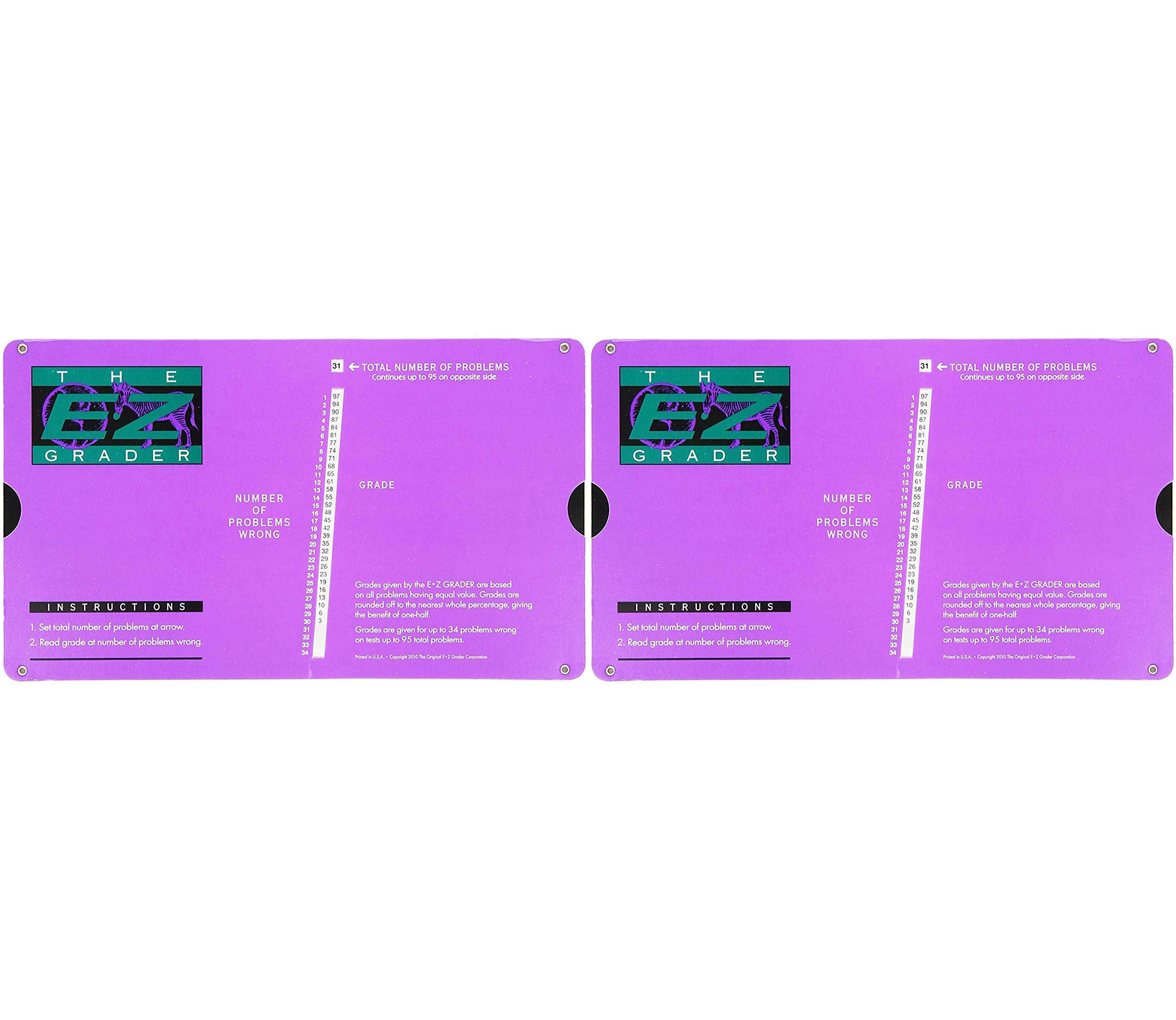 E-Z Grader Grading Calculator Teacher's Aid Scoring Chart (Purple) - 8-1/2'' x 4-3/4'' (2-(Pack)) by Grading (Image #1)