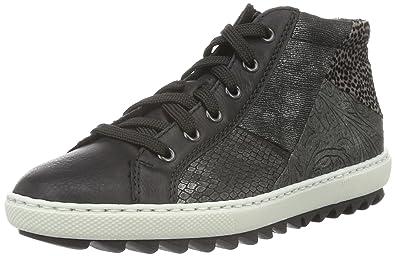 Rieker M8444, Sneakers Hautes Femme, Noir (Schwarz/Granit/Schwarz/Silber/Grigio/Grau/00), 38 EU