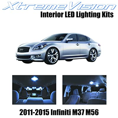 XtremeVision Interior LED for Infiniti M37 M56 2011-2015 (10 Pieces) Cool White Interior LED Kit + Installation Tool: Automotive